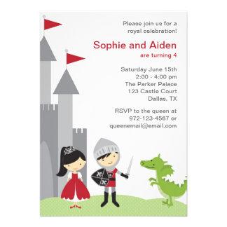 Invitations d'anniversaire de princesse et de chev
