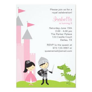 Invitations d'anniversaire de princesse et de carton d'invitation  12,7 cm x 17,78 cm