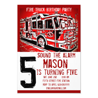 Invitations d'anniversaire de sapeur-pompier de