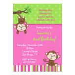 Invitations d'anniversaire de singe de mod