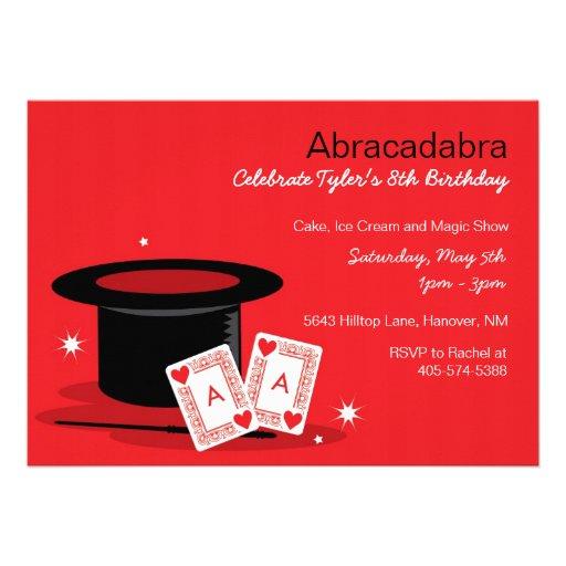 invitations d 39 anniversaire de spectacle de magie carton d 39 invitation 12 7 cm x 17 78 cm zazzle. Black Bedroom Furniture Sets. Home Design Ideas