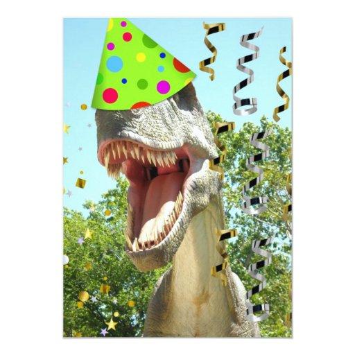 invitations d 39 anniversaire de t rex de dinosaure zazzle. Black Bedroom Furniture Sets. Home Design Ideas