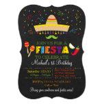 Invitations d'anniversaire de tableau de fiesta