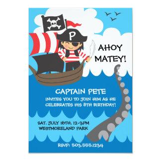 Invitations d'anniversaire d'enfant de pirate