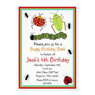 Invitations d'anniversaire d'insectes