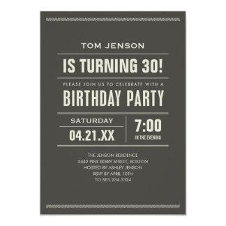 Invitations d'anniversaire pour des adultes