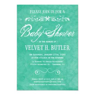 Invitations de baby shower d'aquarelle carton d'invitation  12,7 cm x 17,78 cm