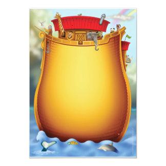 Invitations de baby shower de l'arche de Noé Carton D'invitation 12,7 Cm X 17,78 Cm