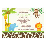 Invitations de baby shower de zoo de jungle de saf