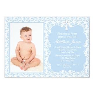 Invitations de baptême de baptême de garçon