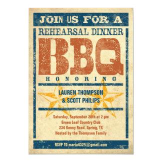 Invitations de BBQ de dîner de répétition