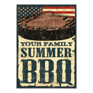 Invitations de BBQ de drapeau américain
