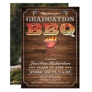 Invitations de BBQ d'obtention du diplôme (gril et