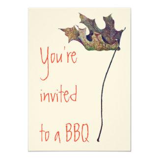 Invitations de BBQ sur le papier d'Ecru de feutre