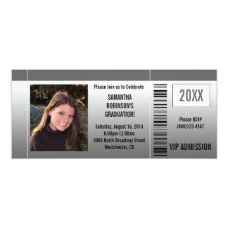Invitations de billet de fête de remise des carton d'invitation  10,16 cm x 23,49 cm
