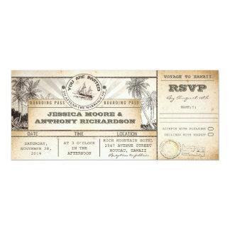 invitations de billets de mariage de carte carton d'invitation  10,16 cm x 23,49 cm
