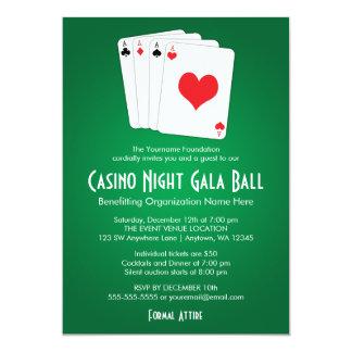 Invitations de boule de gala de nuit de casino