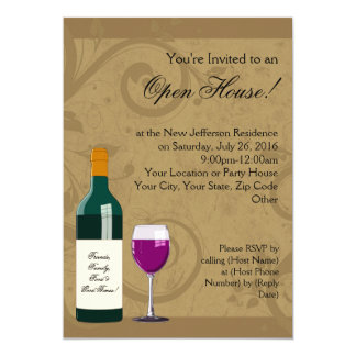 Invitations de Chambre ouverte, thème de vin