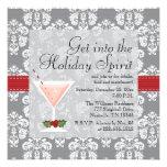 Invitations de cocktail de vacances de Noël