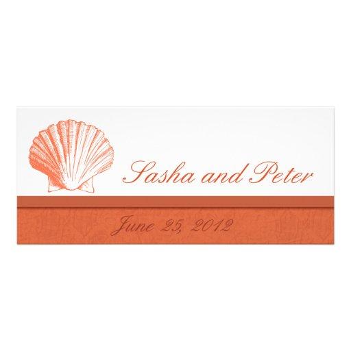 Invitations de corail de mariage de plage de Shell