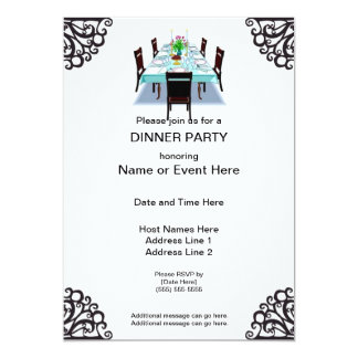 Invitations de coutume de dîner
