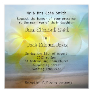 Invitations de coutume de mariage de plage de