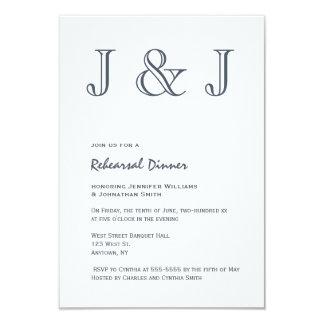 Invitations de dîner de répétition de monogramme