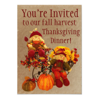 Invitations de dîner de thanksgiving de récolte de
