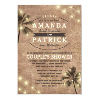 Invitations de douche de couples de plage de