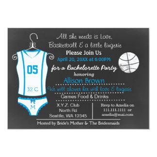 Invitations de douche de lingerie de basket-ball