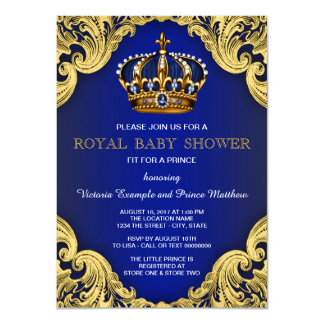 Invitations de fantaisie de prince baby shower