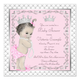 Invitations de fantaisie de princesse baby shower