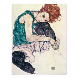 Invitations de femme posées par Schiele d'Egon