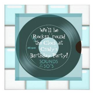 invitations de fête d anniversaire de thème des an