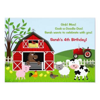 Invitations de fête d'anniversaire d'animaux de