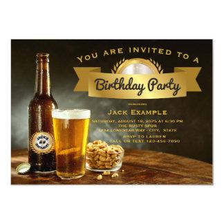 Invitations de fête d'anniversaire de bière
