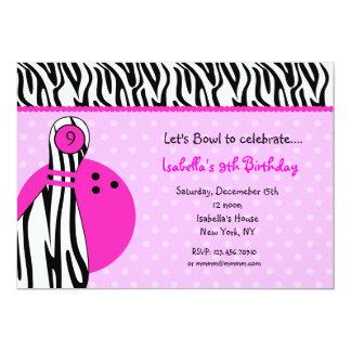 Invitations de fête d'anniversaire de bowling carton d'invitation  12,7 cm x 17,78 cm