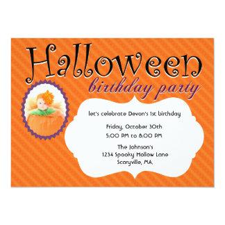 Invitations de fête d'anniversaire de Halloween de