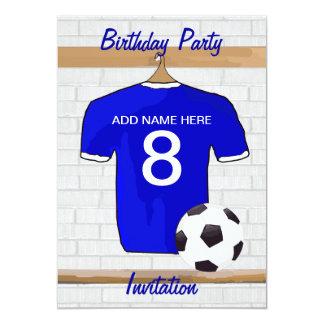 Invitations de fête d'anniversaire de Jersey de
