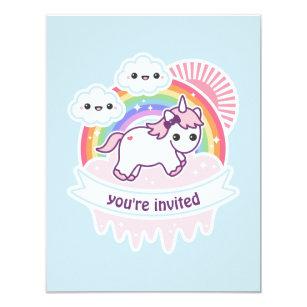 Invitations Faire Part Cartes Anniversaire Kawaii Zazzle Fr