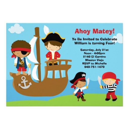 Invitations de fête d'anniversaire de pirate