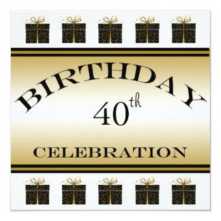 Invitations de fête d'anniversaire de présents de