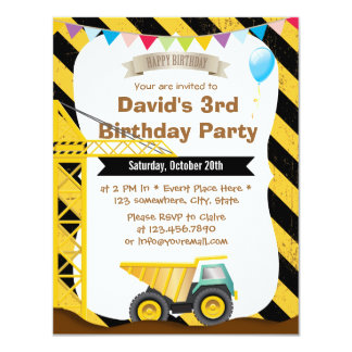 Invitations de fête d'anniversaire de thème de