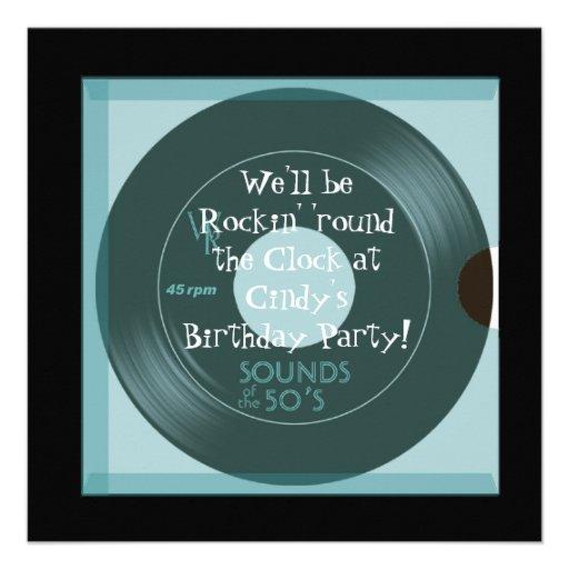 invitations de fête d'anniversaire de thème des an