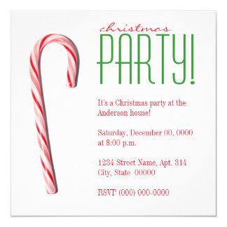 Invitations de fête de Noël de sucre de canne