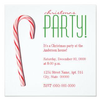 Invitations de fête de Noël de sucre de canne Carton D'invitation 13,33 Cm