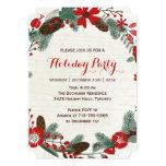 Invitations de fête de vacances