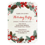 Invitations de fête de vacances carton d'invitation  12,7 cm x 17,78 cm