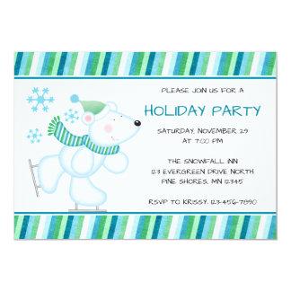 Invitations de fête de vacances de Noël d'ours