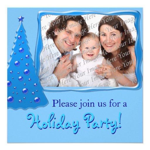 Invitations de fête de vacances personnalisées par